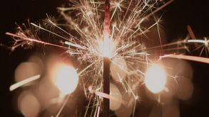 Sparklers Burning Closeup