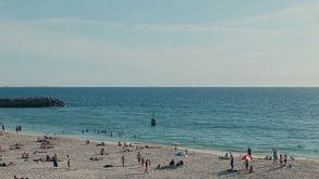 View Across The Sand And Water At Cottesloe Beach