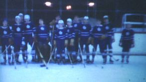 Youth Ice Hockey Game At Indoor Rink-1970 Vintage 8mm Film
